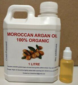 ARGAN OIL MOROCCAN - COLD-PRESSED (FREE ALMOND, AVOCADO OR CASTOR OIL) FREE POST