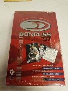 1997 Donruss MLB Baseball Factory Sealed box 36 packs Elite Series?