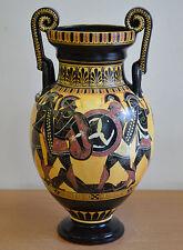 Achilles Hector Menelaos Paris -Trojan War Theme - Amphora Vase - Museum Replica