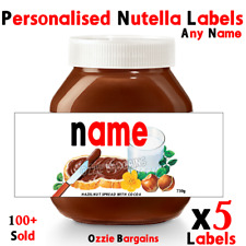 X5 Nutella - Personalised Nutella Labels - Make your own label- 750g -