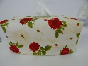 Tissue Box Cover With Circle Opening Bella Rosa  - Great Gift!
