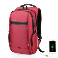 """13.3""""14""""15""""15.6""""17"""" Nylon Laptop Backpack Travel PC USB Charger Bag For Mac Sony"""