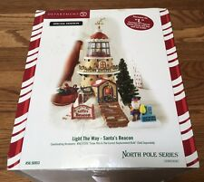 Department 56 NORTH POLE LIGHT THE WAY SANTA'S BEACON Damaged