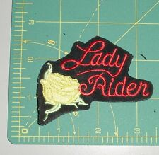 Embroidered Patch - Lady Rider - Yellow Rose