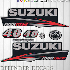 Suzuki 40 hp Four Stroke outboard engine decal sticker set kit reproduction 40HP