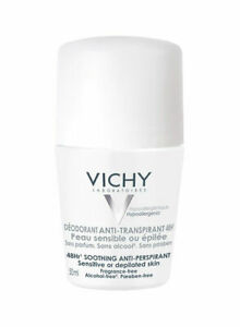 Vichy Soothing Anti-Perspirant Roll-On 50ml FREE SHIPPING WORLD WIDE