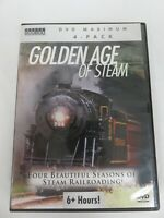 Golden Age of Steam Train Railroading Set of 4 DVD's
