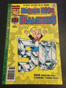 """Richie Rich Diamonds#50 Awesome Condition 7.0(1989) """"50th Diamond Cover"""""""