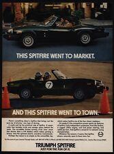 1979 TRIUMPH SPITFIRE Convertible Sports Car - Race Car - VINTAGE AD