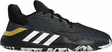 Mens Adidas Pro Bounce 2019 Low Basketball Shoes Black White Gold EF0469