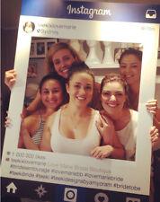 NEW Personalised WHITE A1 Instagram Selfie Foamex Board Frame. Wedding Party etc