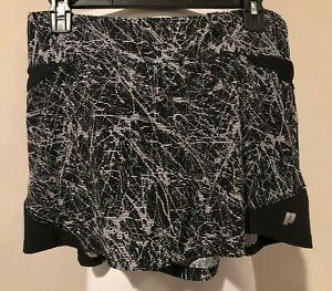 PRINCE Womens Black & White Tennis Skirt Skorts - Sz Medium