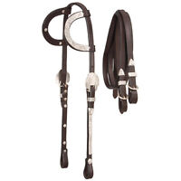 Royal King Double Ear Show Headstall w/Reins