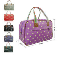 Matte Canvas Polka Dot Weekend Maternity Travel Holiday Bag Holdall Luggage