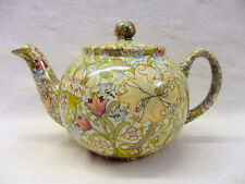 William Morris golden lilly design 2 cup teapot by Heron Cross Pottery