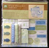 """New Making Memories Cardstock Stickers 8"""" x 8"""" Page Kit Baby Boy - 33 Pieces"""