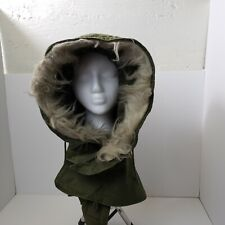 1977 Extreme Cold Weather Parka Hood OG-107 Winter Fur Ruff Fishtail US Army