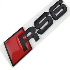 AUDI A6 Logo RS6 Noir Satin Emblème Autocollant Coffre Side Fender Rear Trunk