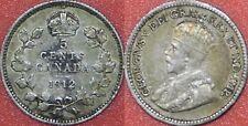 Very Fine 1912 Canada Silver 5 Cents