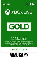 Xbox Live Gold Mitgliedschaft Card 12 Monate Microsoft Xbox 360/One [GLOBAL Key]