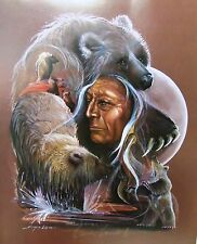 """I Am Bear"" - S/N Limited Ed Print by Carole Bourdo (Native Spirits) 20x24"
