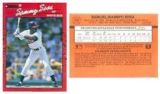 1990 DONRUSS BASEBALL #489 SAMMY SOSA WHITE SOX ROOKIE