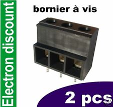 Bornier à vis 300V 60A 3 plots lot de 2