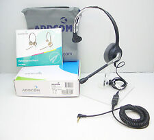 ADD800 Headset + ADDQD-07 QD Cable for Alcatel 4028 4029 4038 4039 4068 IP Phone