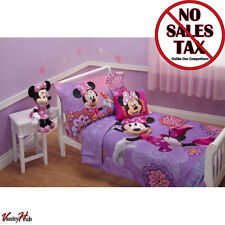 DISNEY Minnie Mouse Bedding 4 Piece Set Comforter Sheets Toddler Bed Baby Crib