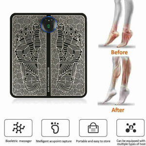 Foot Massager Pad EMS Mat Blood Relief Pain Leg Reshaping Rechargeable Intensity