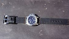 Watch Strap - Black Leather & StitchesCopper Color (Watch & Buckle NOT included)