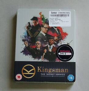 KINGSMAN : THE SECRET SERVICE - UK HMV EXCLUSIVE BLU-RAY STEELBOOK * NEW