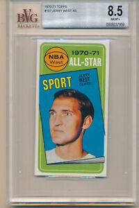 1970 Topps Basketball Jerry West (HOF) (All-Star Card) (#107) BVG8.5 BVG