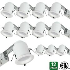Hykolity 4 White LED Remodel Recessed Lighting Kits, IC Rated Remodel Housing -