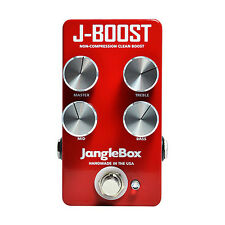 JangleBox J-Boost Non-Compression Clean Boost Guitar Effects Pedal +Picks
