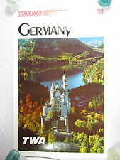 Vintage TWA Trans World Airlines GERMANY Poster #6528 Collectible Castle Poster