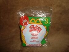 Furby backpack clip / Keychain Plush 2000 Mcdonalds #3 Tree Frog with sounds