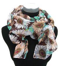 Écharpes et châles foulard marron avec un motif Floral pour femme