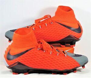 Nike Hypervenom Phatal 3 DF FG Grey & Purple Soccer Cleat Sz 11 NEW 881546 058