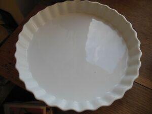 plat a tarte en porcelaine