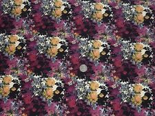 PEACHED FINISH - EVENING FLORAL - DRESS FABRIC - 3.4 METRES