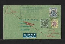 HONG KONG CHINA TO AUSTRALIA AIR MAIL  FIRST FLIGHT COVER 1936