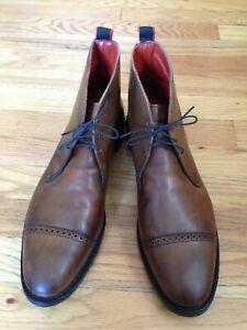 Allen Edmonds Bleecker Street Men's Brown Full Grain Calfskin Leather Boots 12 D