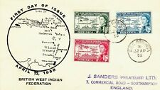 DOMINICA : BRITISH WEST INDIAN FEDERATION, FIRST DAY COVER (1958)