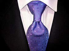 MARKS & SPENCER Krawatte violett blau  Seide wie neu Tie Cravatte