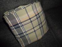 NAUTICA PLAID GREEN BLUE MELON QUEEN FLAT SHEET 85 X 93