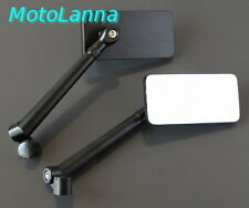 Billet CNC Aly Rect I-Fone Mirrors Yamaha SR500 XS650 Ducati CB750 CB Cafe Racer