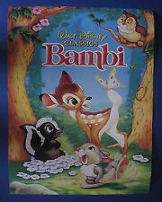 "Cartel De Cine Bambi, Walt Disney, 16"" X 23"""