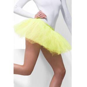 Ladies Neon Tutu Underskirt 4 Layers 30cm Long Rave Fancy Dress Disco 80s Party
