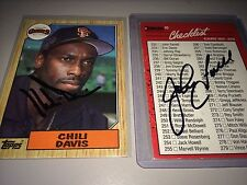 John Farrell Mgr. & Chili Davis Boston Red Sox auto autograph baseball card LOT